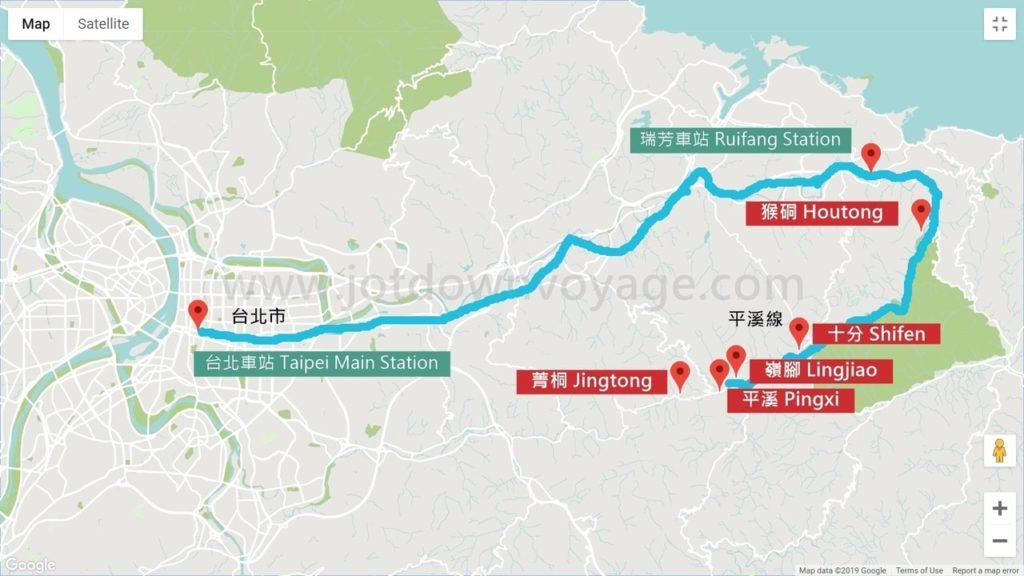 【路線規劃圖】台鐵路線:台北.瑞芳.平溪線一日遊