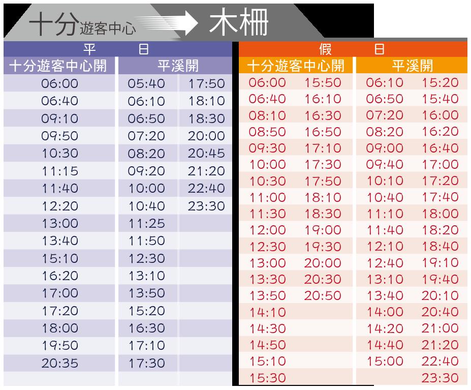 【路線規劃】平溪木柵線795台灣好行時刻表(回程).大眾交通方式