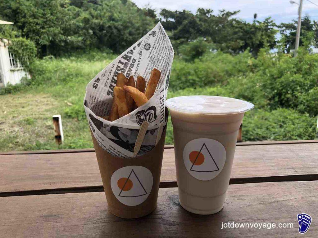 山度空間 餐點(薯條、奶茶)-花蓮壽豐景點