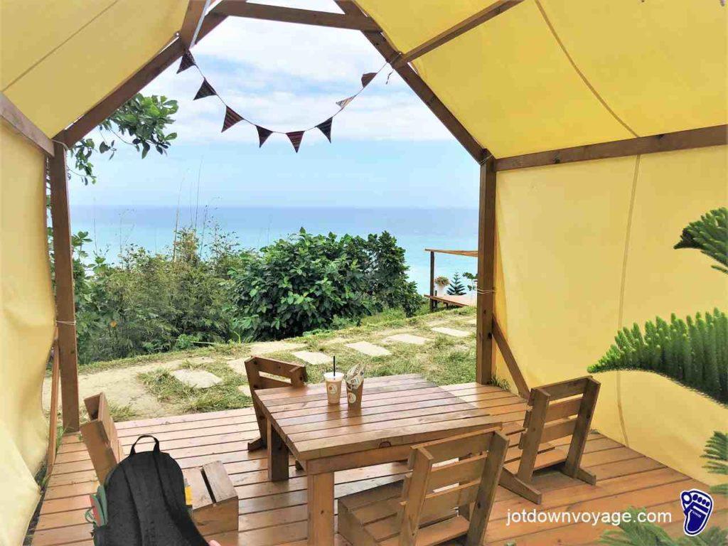 《山度空間》海景 & 神殿帳篷座位區-花蓮壽豐景點