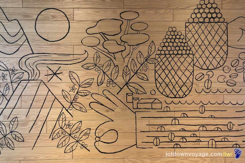 花蓮貨櫃星巴克:內部彩繪與藝術