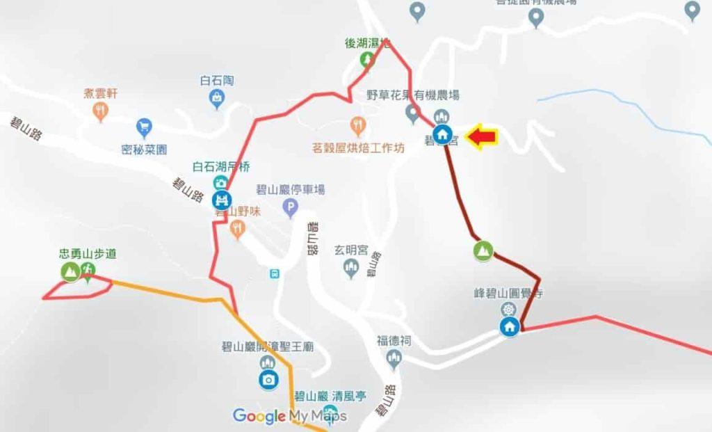 台北市內湖登山步道 & 地圖:圓覺尖山Hiking in Taipei