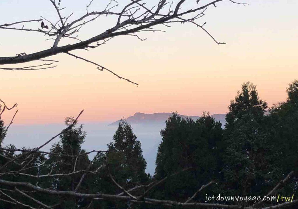 加里山登山口黃昏