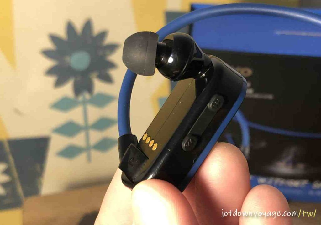 配件開箱、耳塞|KINYO MP3防水運動型藍牙耳機 (BTE-3970)