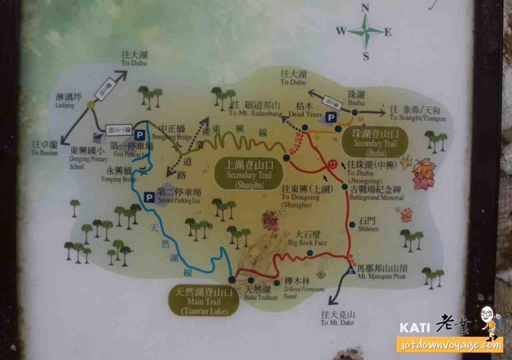 馬那邦山登山步道路線圖