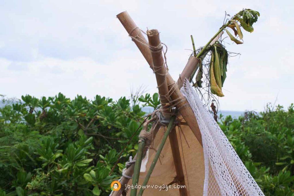 海或瘋市集 竹子搭建的印第安造型帳