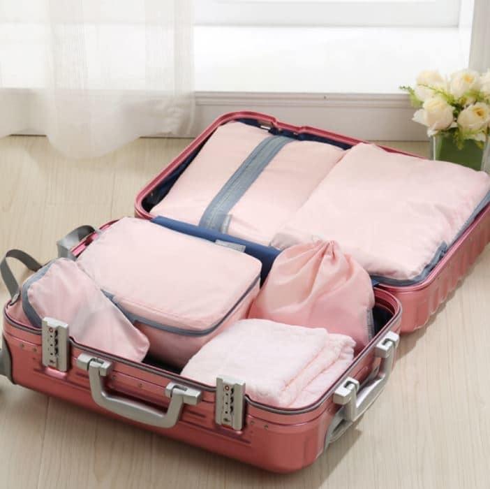 超實用旅遊必備物品 打包攻略(衣物收納分類包)
