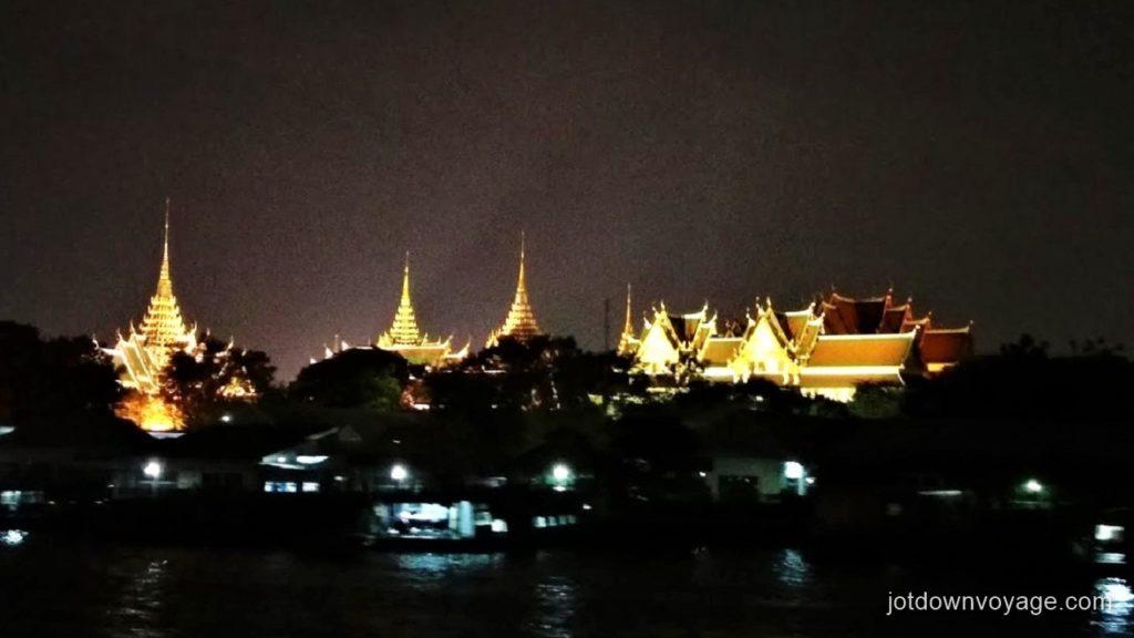 曼谷自由行-昭披耶河遊船自助晚餐推薦:昭披耶河公主號|大皇宮夜景  Chao Phraya Princess Cruise Dinner Buffet  Guide