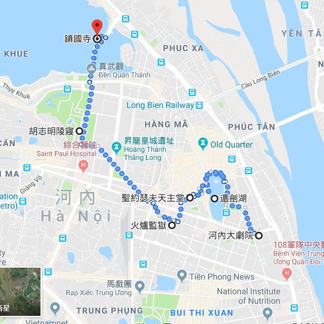河內、老城區地圖 @2019 全攻略: 河內自由行 6天5夜(機票、簽證、景點、美食、住宿、總花費)