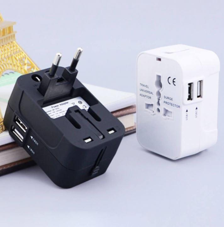 旅行萬用轉接頭2孔USB 推薦 Universal adapter