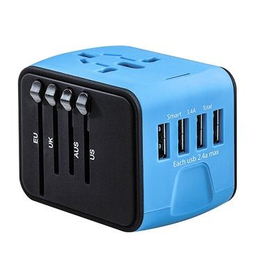 旅行萬用轉接頭4孔USB 推薦 Universal adapter