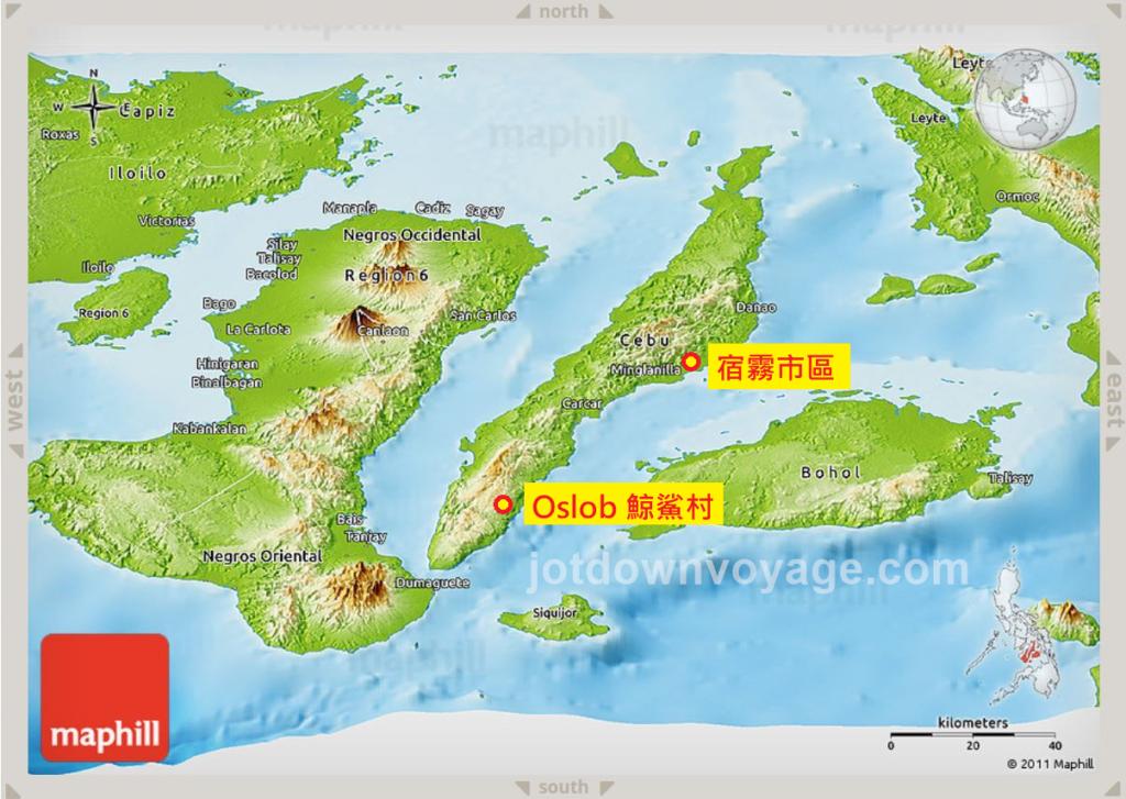 宿霧自由行,KKday賞鯨鯊行程評價和心得推薦|Oslob鯨鯊村、地圖 map