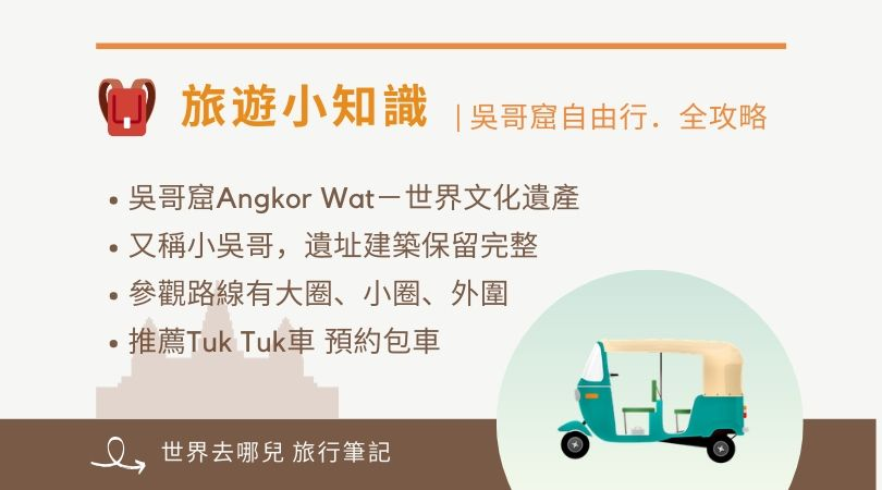 吳哥窟自由遊行全攻略|概念與重點整理 Angkor Tour
