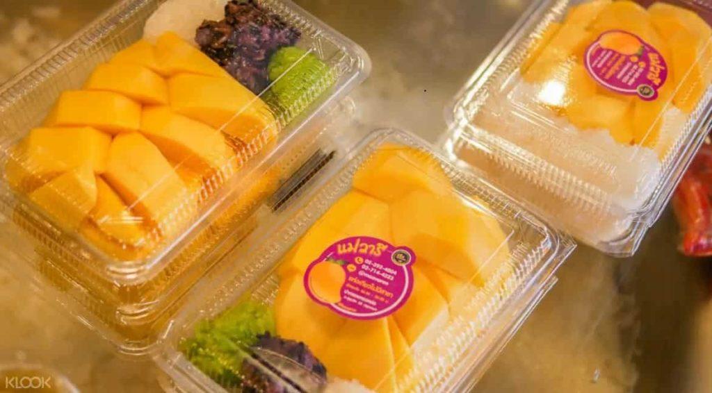 芒果糯米飯  ข้าวเหนียวมะม่วง |泰國自由行街邊小吃美食推薦