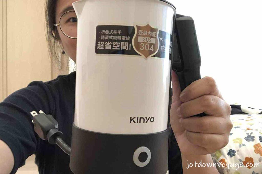 用自己的壺 KINYO 雙電壓0.6L旅行快煮壺 AS-HP80 2020快煮壺推薦