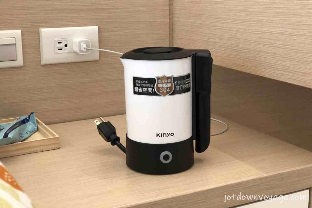 好收納 旅行用 KINYO 雙電壓0.6L旅行快煮壺 AS-HP80 2020快煮壺推薦