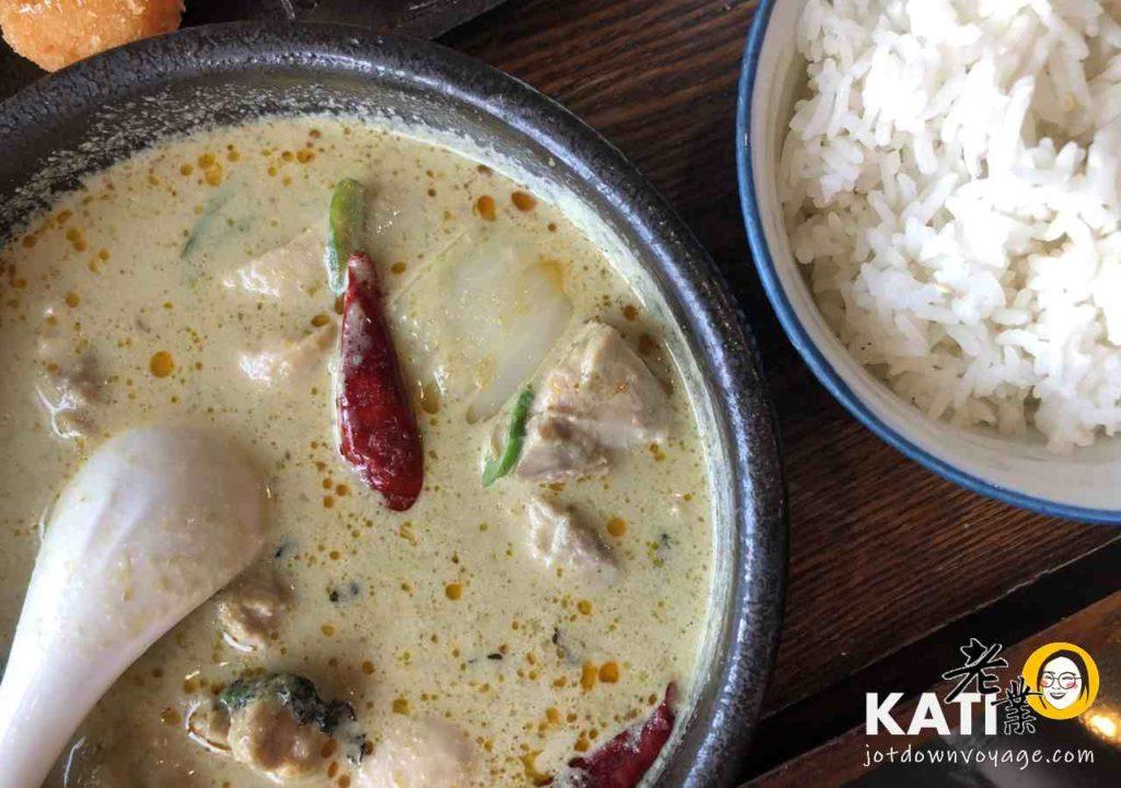 椰香綠咖哩定食《泰酷 Thai Cook》桃園南平路 泰式料理